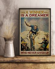 Cycling A Winner Is A Dreamer Who Never Gives Up 11x17 Poster lifestyle-poster-3