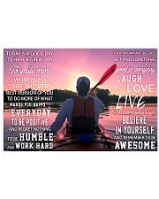 Kayaking Today Is A Good Day 17x11 Poster front