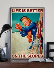 Skiing Better On The Slopes 11x17 Poster lifestyle-poster-2