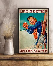 Skiing Better On The Slopes 11x17 Poster lifestyle-poster-3