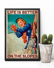 Skiing Better On The Slopes 11x17 Poster lifestyle-poster-8