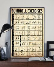 Fitness Dumbbell Exercises 11x17 Poster lifestyle-poster-2