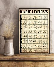 Fitness Dumbbell Exercises 11x17 Poster lifestyle-poster-3
