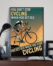 Cycling Don't Stop 11x17 Poster lifestyle-poster-2