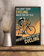 Cycling Don't Stop 11x17 Poster lifestyle-poster-3