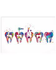 Dentist Endodontic Therapy Watercolor 17x11 Poster front