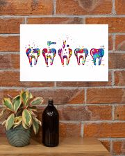 Dentist Endodontic Therapy Watercolor 17x11 Poster poster-landscape-17x11-lifestyle-23