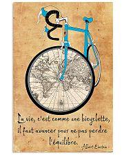 Cycling La Vie C'est Comme Faire Du Vélo 11x17 Poster front