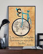 Cycling La Vie C'est Comme Faire Du Vélo 11x17 Poster lifestyle-poster-2