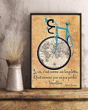 Cycling La Vie C'est Comme Faire Du Vélo 11x17 Poster lifestyle-poster-3