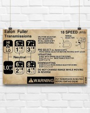 Trucker - Warning Information 17x11 Poster aos-poster-landscape-17x11-lifestyle-17