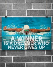 Swimming A Winner Is A Dreamer Who Never Gives Up 17x11 Poster aos-poster-landscape-17x11-lifestyle-18