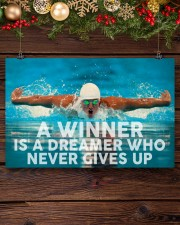 Swimming A Winner Is A Dreamer Who Never Gives Up 17x11 Poster aos-poster-landscape-17x11-lifestyle-27
