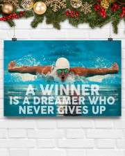 Swimming A Winner Is A Dreamer Who Never Gives Up 17x11 Poster aos-poster-landscape-17x11-lifestyle-28
