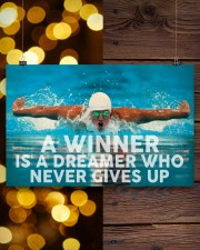 Swimming A Winner Is A Dreamer Who Never Gives Up 17x11 Poster aos-poster-landscape-17x11-lifestyle-29