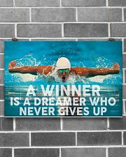 Swimming A Winner Is A Dreamer Who Never Gives Up 17x11 Poster poster-landscape-17x11-lifestyle-18