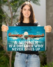Swimming A Winner Is A Dreamer Who Never Gives Up 17x11 Poster poster-landscape-17x11-lifestyle-19