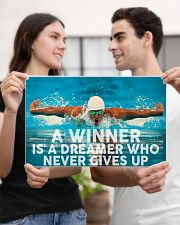 Swimming A Winner Is A Dreamer Who Never Gives Up 17x11 Poster poster-landscape-17x11-lifestyle-20