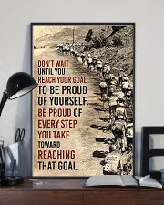 Cycling Don't Wait Until You Reach Your Goal 11x17 Poster lifestyle-poster-2