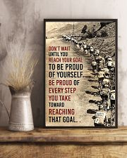 Cycling Don't Wait Until You Reach Your Goal 11x17 Poster lifestyle-poster-3