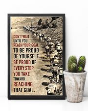 Cycling Don't Wait Until You Reach Your Goal 11x17 Poster lifestyle-poster-8