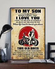 Motorcycle To My Son  11x17 Poster lifestyle-poster-2