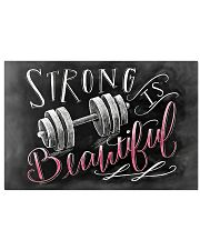 Fitness Strong Is Beautiful 17x11 Poster front