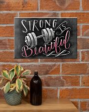 Fitness Strong Is Beautiful 17x11 Poster poster-landscape-17x11-lifestyle-23
