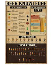Bartender Beer Knowledge 11x17 Poster front