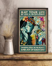 Hippie - May Your Life Be Like A Wildflower 11x17 Poster lifestyle-poster-3
