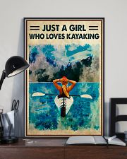 Kayaking Just A Girl Who Loves Kayaking 11x17 Poster lifestyle-poster-2