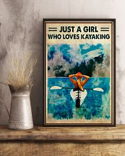 Kayaking Just A Girl Who Loves Kayaking 11x17 Poster lifestyle-poster-3