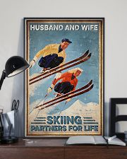 Skiing Husband And Wife Skiing Partners For Life 11x17 Poster lifestyle-poster-2