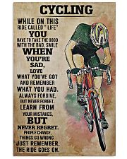 Cycling The Ride Goes On 11x17 Poster front