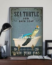 Turtle Sea Turtle And Co Bath Soap 11x17 Poster lifestyle-poster-2