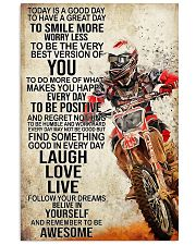 Motorcycle Today Is A Good Day 11x17 Poster front
