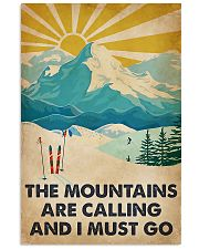 Mountains Calling Skiing 11x17 Poster front