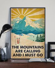 Mountains Calling Skiing 11x17 Poster lifestyle-poster-2