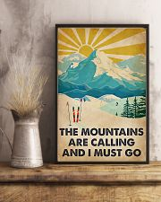 Mountains Calling Skiing 11x17 Poster lifestyle-poster-3