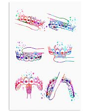 Dentist Watercolor Brush Teeth 11x17 Poster front