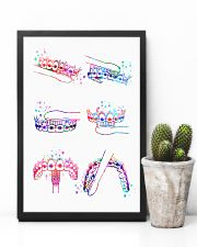 Dentist Watercolor Brush Teeth 11x17 Poster lifestyle-poster-8
