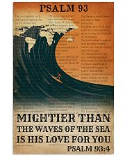 Surfing His Love For You Mightier Than The Waves  11x17 Poster front