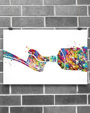 Dentist Watercolor Toothpaste 17x11 Poster poster-landscape-17x11-lifestyle-18