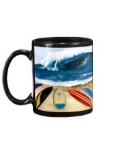 Surfing Beach Mug back
