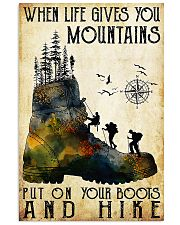 Hiking Put On Your Boots And Hike  11x17 Poster front
