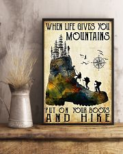 Hiking Put On Your Boots And Hike  11x17 Poster lifestyle-poster-3