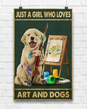 Painting Girl And Dogs 11x17 Poster aos-poster-portrait-11x17-lifestyle-17