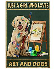 Painting Girl And Dogs 11x17 Poster front