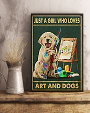 Painting Girl And Dogs 11x17 Poster lifestyle-poster-3