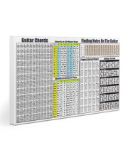GUITAR CHORDS 30x20 Gallery Wrapped Canvas Prints front